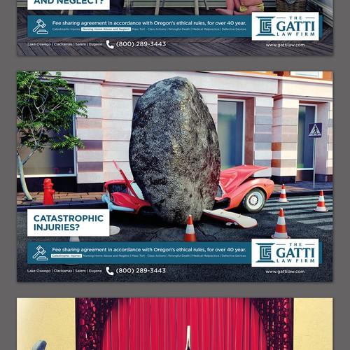 Law firm unique print advertisements. Design by SteFanzini