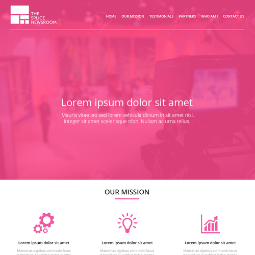 Create a great, eye-catching single-page website for a leading newsroom editorial consultancy. Ontwerp door Răzvan I.
