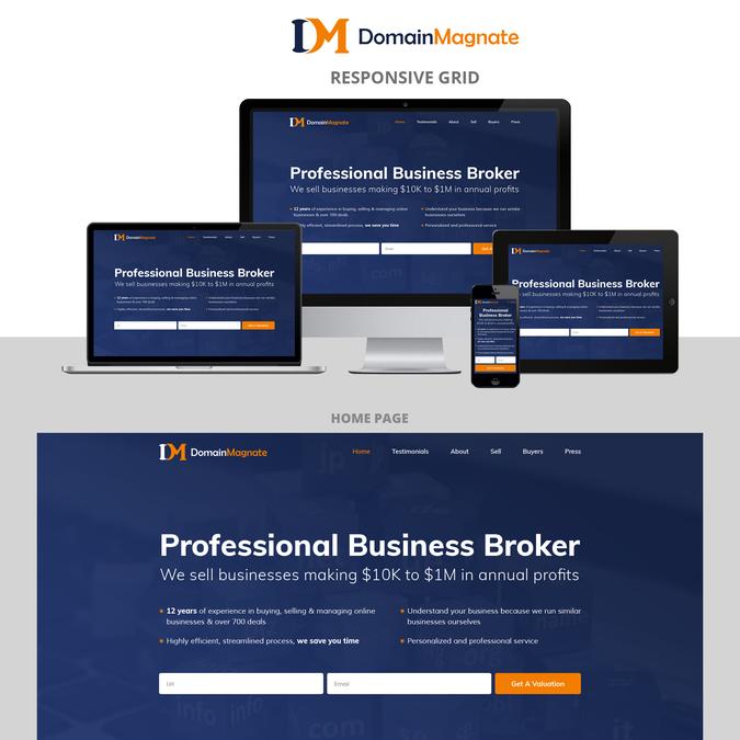 Design a slick WP theme for Domain Magnate | WordPress theme design