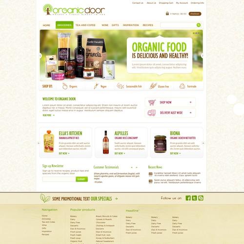 Organic Door Needs A New Website Design Web Page Design Contest 99designs