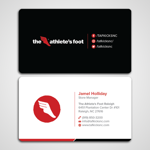 Design a dope business card for a trendy sneaker and apparel company runner up design by designc colourmoves