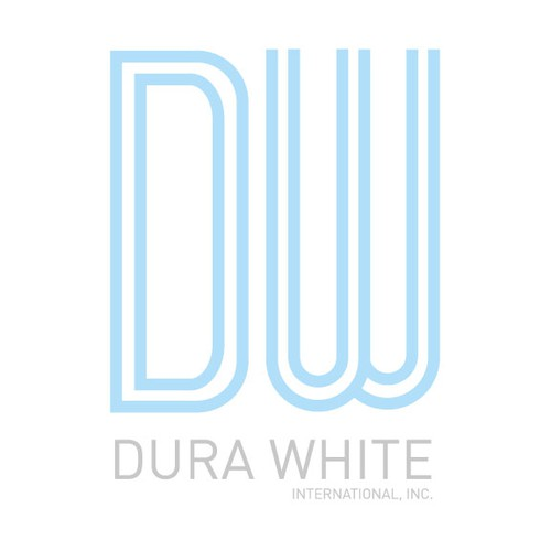 Business logo for dura white international inc logo for International design company