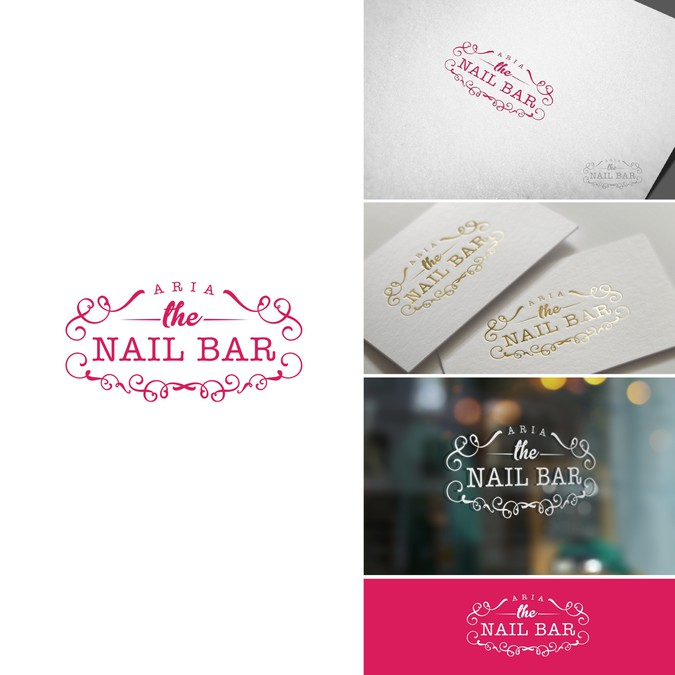 Create a modern, clean yet elegant and luxurious logo for our nail