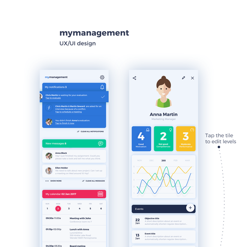 Create app design for mymanagement the first solution for for Blueprint creator app