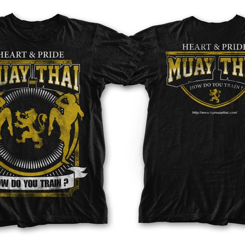Muay Thai T Shirt Design | T Shirt Needed For A Gym Heart Pride Muay Thai T Shirt Wettbewerb