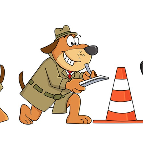 Cartoon Character Design Competition : Cartoon character a dog who is expert engineer perito