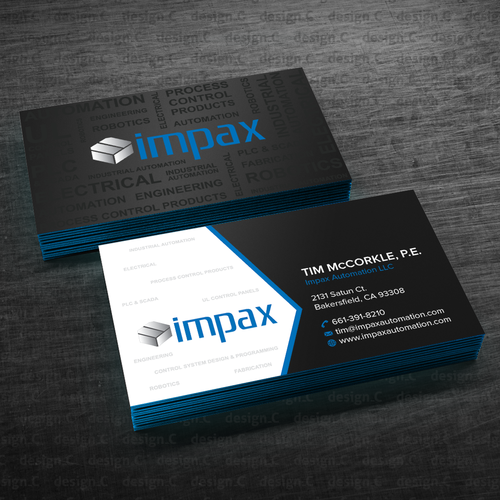 Create the business card that jumps off the conference room table runner up design by designc reheart Images