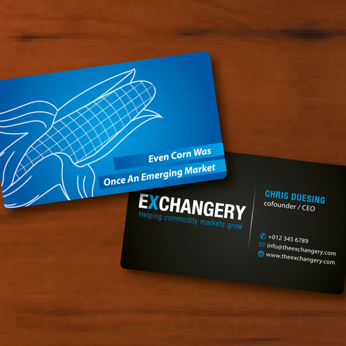 Business Card For Exchangery Concours Papeterie