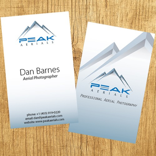 Create a business card for peak aerials professional aerial runner up design by frshno reheart Images