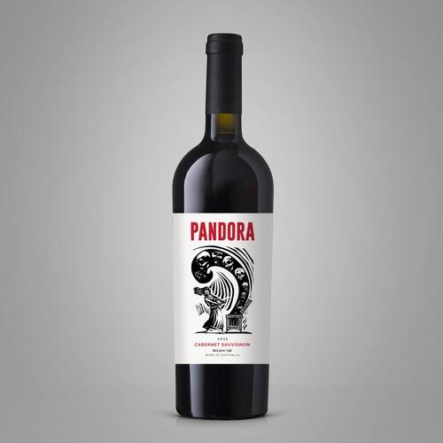 Design a Wine Label called 'Pandora' Design by nestorson
