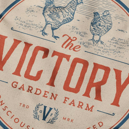 Create an iconic vintage design to represent and embody our small organic farm. Design by GOOSEBUMPS