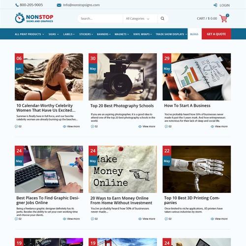 Nonstop Signs Web Page Design Contest 99designs