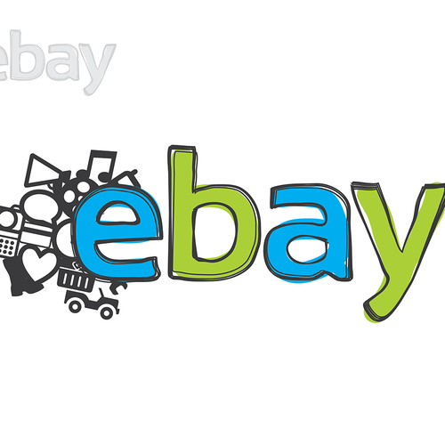 99designs community challenge: re-design eBay's lame new logo! Diseño de |DK|