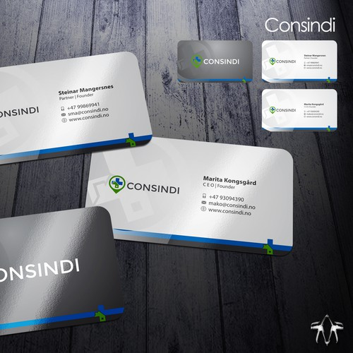 Business cards and powerpoint template concurso cartao for Powerpoint business card template