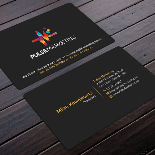 Create eye catching professional business card for digital runner up design by felix sh colourmoves