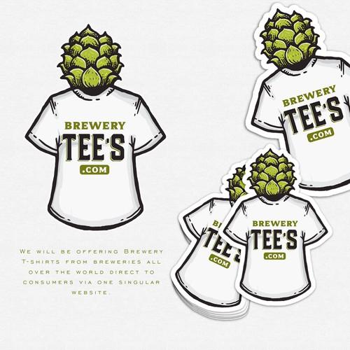 "Logo design for my new site, brewerytees.com! Diseño de Vulcan"""