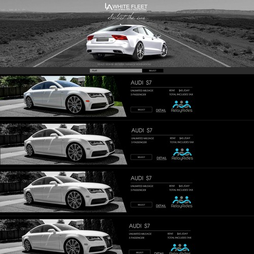 Rent Websites: Design Website For Luxury Car Rental Site