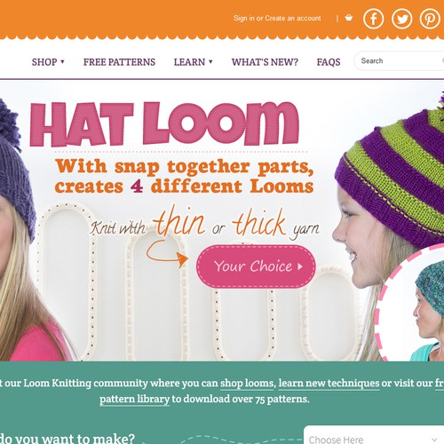 Knitting Websites Best : Create a website banner for knitting site ad contest