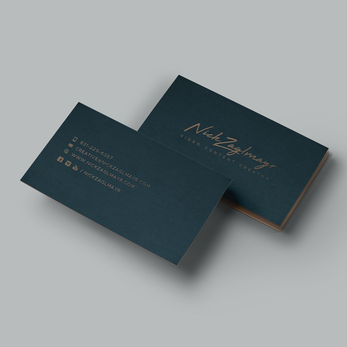 Content Creator Looking For Jaw Dropping Design Business Card Contest 99designs