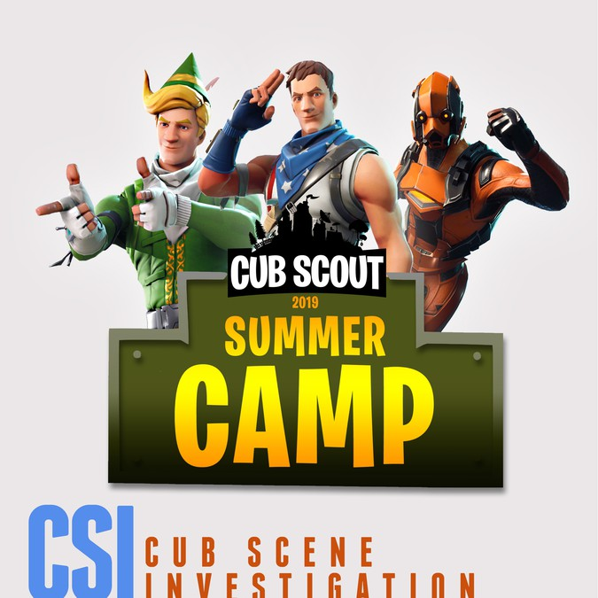 Cub Scouts CSI: Cub Scene Investigation Poster for Summer