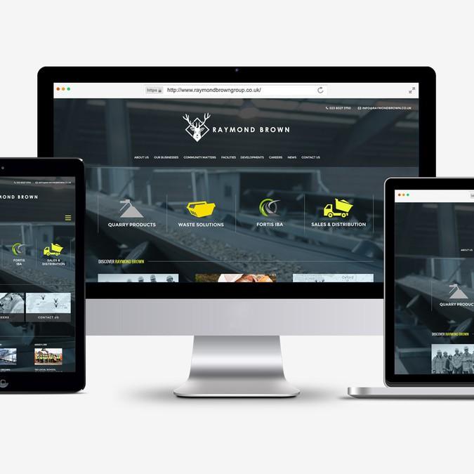 Raymond Brown Website Design | Web page design contest