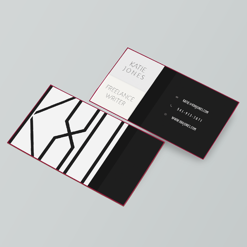 Design a business card with a millennial vibe for a freelance writer runner up design by kinanqebadre colourmoves