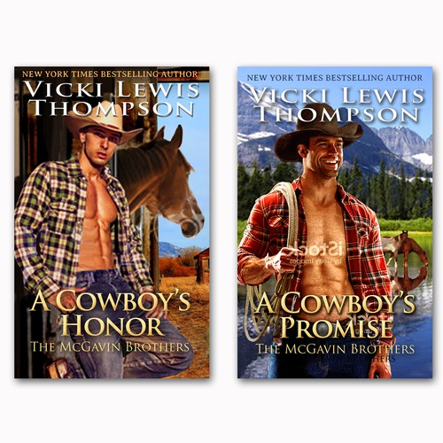Design di Create book covers for a new western romance series by NYT bestseller Vicki Lewis Thompson di Kristin Designs