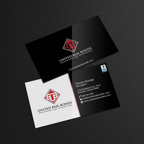 Creative eye catching business card design for bail bonds company runner up design by designc colourmoves Images