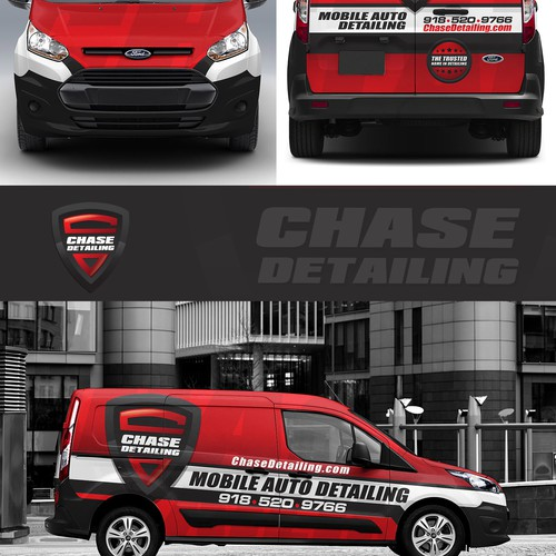 Create A Minimalist Van Wrap For Chase Detailing's Mobile