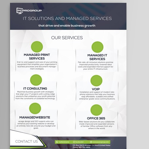 Line Card Examples: IT Company - Creative Line Card Template