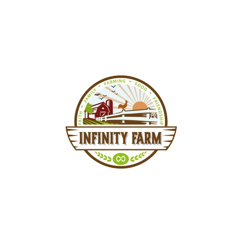 """Lifestyle blog """"Infinity Farm"""" needs a clean, unique logo to complement its rural brand. Design by NevenaLa"""