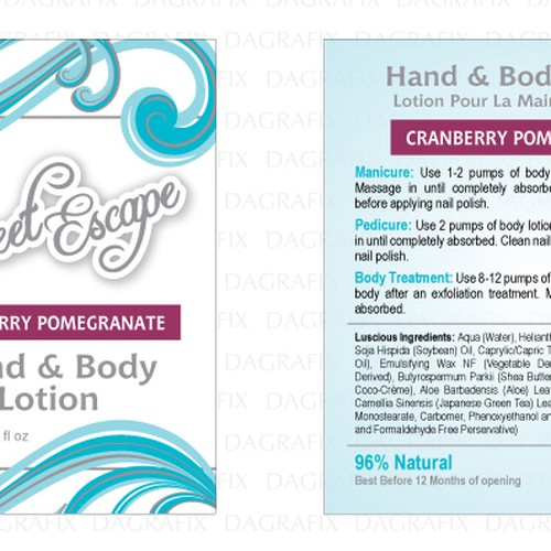 Create Body Product Labels For A Luxury Spa Brand Productetiket