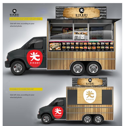 Japanese restaurants need a new food truck wrapping design for Best food truck designs