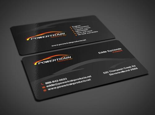 Automotive business card design in Dallas