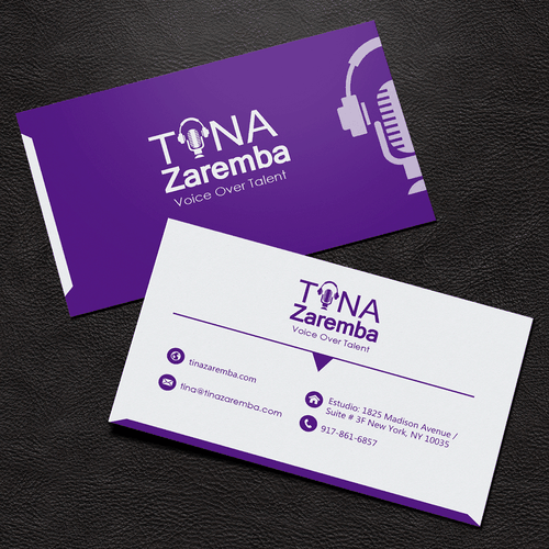 Voice over talent in need of logo logo business card contest runner up design by yhoko design colourmoves