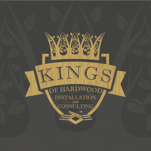 Logo For Kings Of Hardwood 1woodfloors Com Or First Class Floor Covering Inc Logo Design Contest 99designs