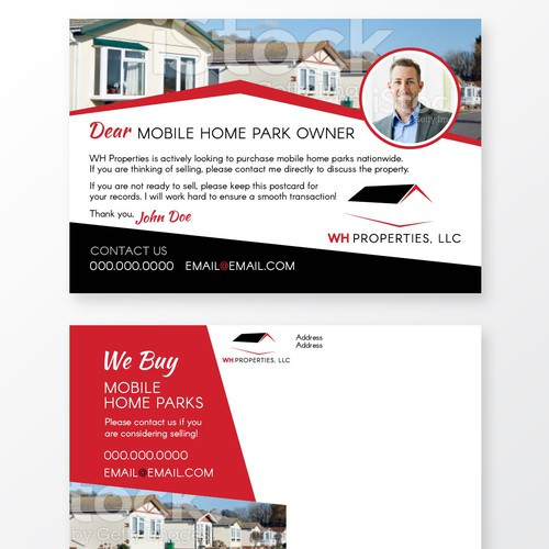create an eye catching postcard for use by a real estate