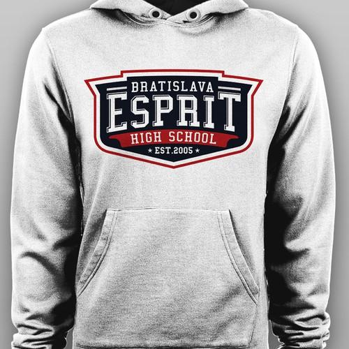 717e49e61 High school hoodie design for premium merch | Clothing or apparel ...