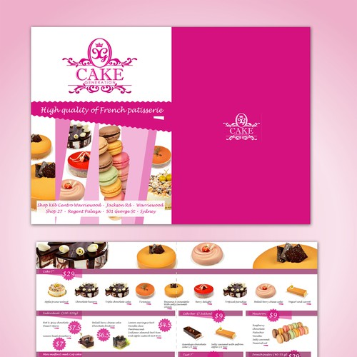 New postcard or flyer wanted for Cake Generation Design by Tanya design
