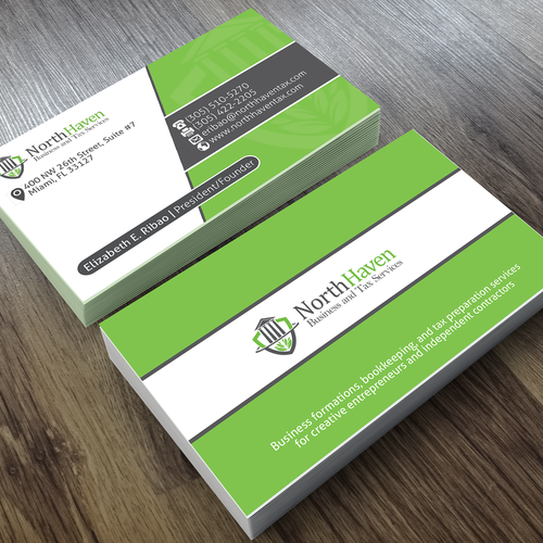 Create business card design for creative tax preparationbookkeeping runner up design by wedesignn reheart Image collections
