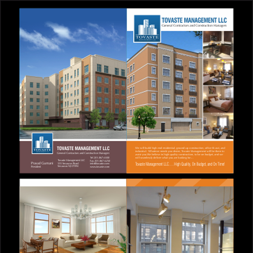Tovaste Management Llc Needs New Brochure Design Print Or