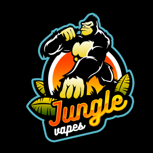 Gorilla logo for Jungle themed vape shop  | Logo design contest