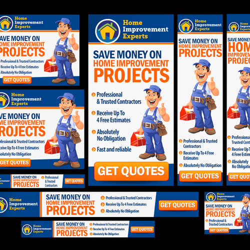 Fun And Creative Home Improvement Ad Banner Ad Contest 99designs