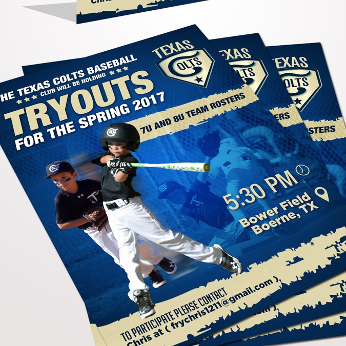 create a tryout flyer for a elite youth baseball team postcard