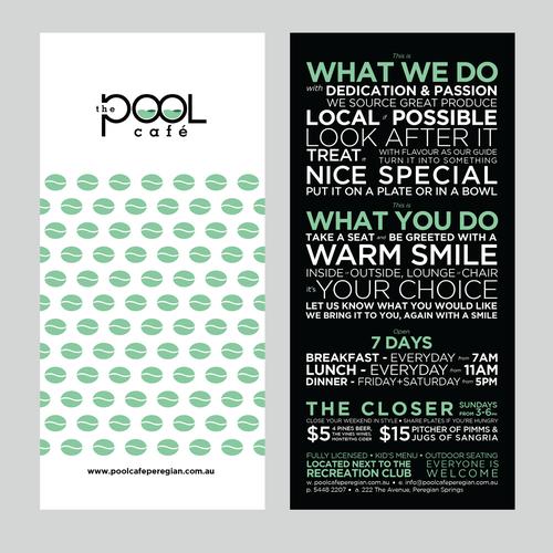 The Pool Cafe, help launch this business Diseño de tündérke