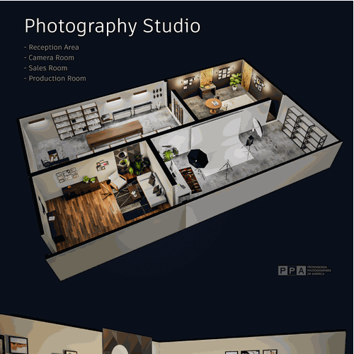 Create An Inspiring 3d Rendering Of A Photography Studio 3d Contest 99designs