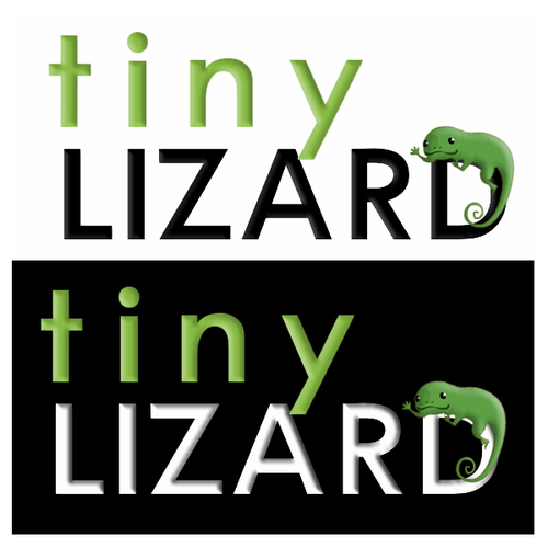 Tiny Lizard Logo Design by DoodlesGraphics