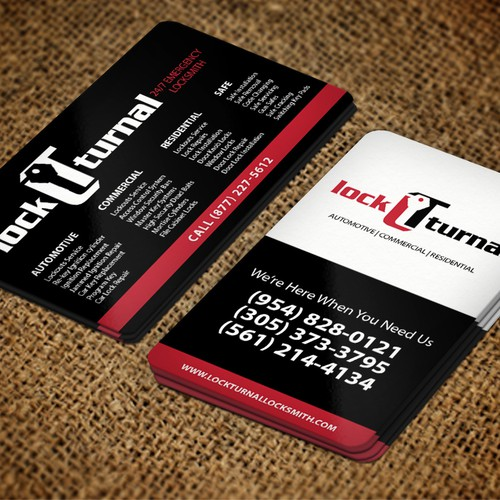 Business Card Design For Local Locksmith Company Have Fun With It Business Card Contest 99designs