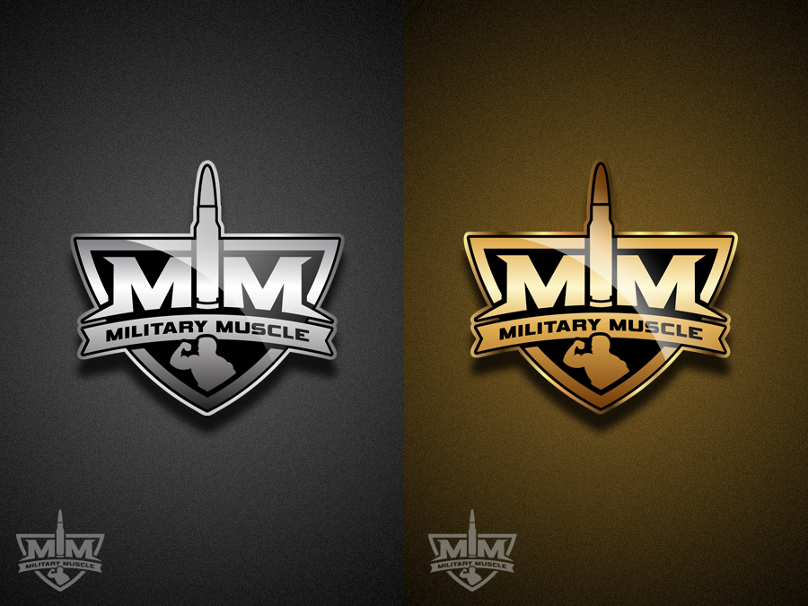 create the official logo for military muscle logo design contest