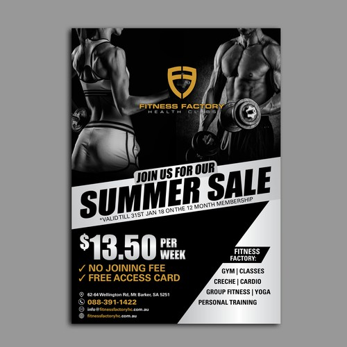 Gym Poster for Summer Sale | Poster contest